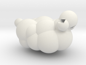 Sheep from LEO the Maker Prince: body section in White Natural Versatile Plastic