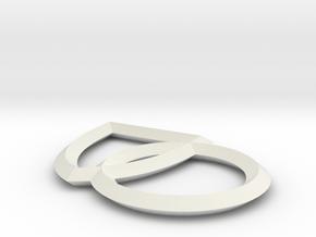 Single Plane Interlocking Seals in White Natural Versatile Plastic