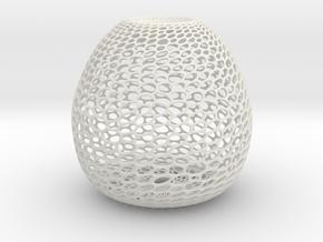 Hive Sculpture in White Natural Versatile Plastic