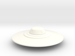 Flying Saucer Miniature 2 in White Processed Versatile Plastic
