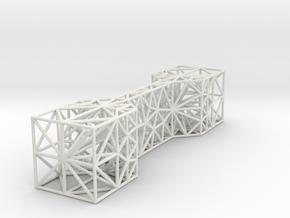 simple bone 3D small in White Natural Versatile Plastic