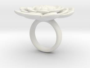 Sbosos 003 (6 cm inner ring) in White Natural Versatile Plastic