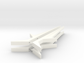 Combinable Filmatron Twin Swords - Two of Each in White Processed Versatile Plastic