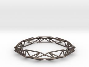 Queen of Diamonds Bracelet S (70mm) in Polished Bronzed Silver Steel