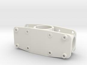 Verteiler Gebogen3b in White Natural Versatile Plastic