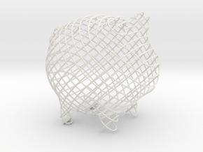 Cross  Small in White Natural Versatile Plastic