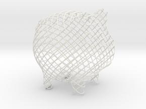 Cross Large in White Natural Versatile Plastic