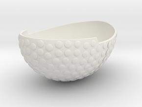 Bowl1GeminiSTL3mm in White Natural Versatile Plastic