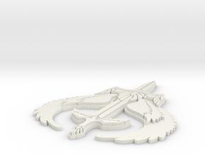 Grey Dawn Symbol 3hx2.5w in White Natural Versatile Plastic