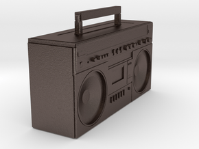 BOOMBOX in Polished Bronzed Silver Steel