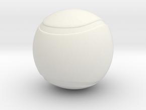 Tennis Ball Hollow in White Natural Versatile Plastic