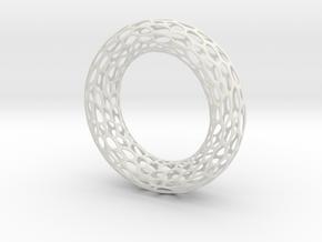 Cell Bracelet in White Natural Versatile Plastic