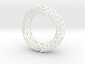 Twisted Cell Bracelet in White Processed Versatile Plastic