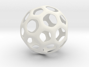 Hive Ball Small in White Natural Versatile Plastic