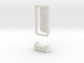 Basic 1x1 Door in White Natural Versatile Plastic