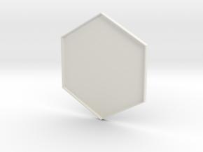 Hex Holder Lid in White Natural Versatile Plastic