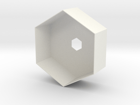Hex Holder in White Natural Versatile Plastic