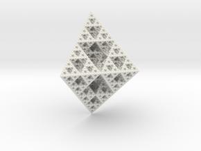 Rhombododecahedron Fractal in White Natural Versatile Plastic