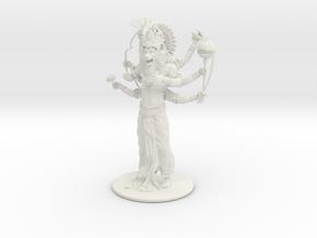 Lord Nrsimhadeva in White Natural Versatile Plastic