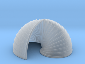 Yin Yang Shell in Smooth Fine Detail Plastic