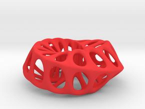 Mobius Strip in Red Processed Versatile Plastic