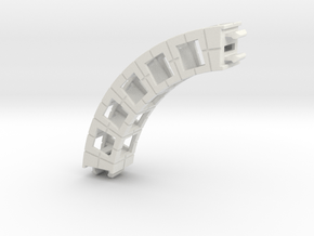 Rokenbok Small Curved Beam in White Natural Versatile Plastic