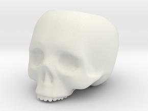 Skull Pot V3 - H100MM in White Natural Versatile Plastic