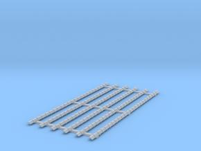 0 Platte Vorst (6st) kruispannen in Smooth Fine Detail Plastic