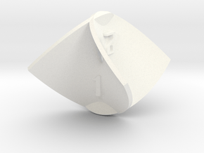 Enneper Surface d4 in White Processed Versatile Plastic