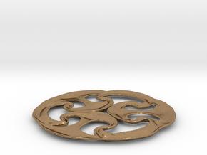 Celtic wheel in Natural Brass