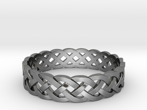 Rohkea Bold Celtic Knot Size 6 in Fine Detail Polished Silver