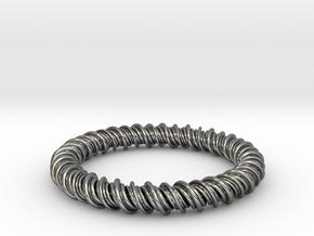 GW3Dfeatures Bracelet C in Fine Detail Polished Silver