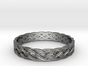 Hieno Delicate Celtic Knot Size 6 in Fine Detail Polished Silver