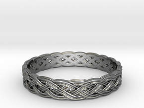 Hieno Delicate Celtic Knot Size 5 in Fine Detail Polished Silver