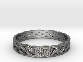 Hieno Delicate Celtic Knot in Polished Silver: 6 / 51.5