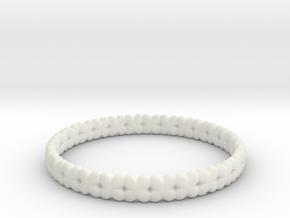 Clover Bracelet A in White Natural Versatile Plastic