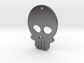 Skull Haenger in Polished Nickel Steel