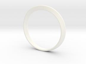 Mobius Strip Bracelet (48mm Inner Diameter) in White Processed Versatile Plastic
