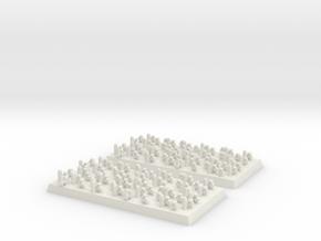 2mm DBA Psioli 40x20mm base in White Natural Versatile Plastic