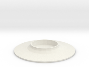 Turntable in White Natural Versatile Plastic