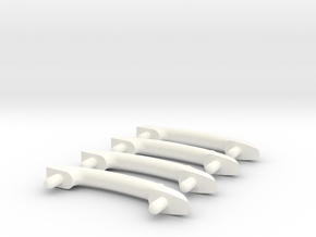 Scale Helicopter Handle C20mm in White Processed Versatile Plastic