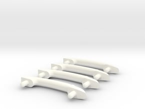 Scale Helicopter Handle C28mm in White Processed Versatile Plastic