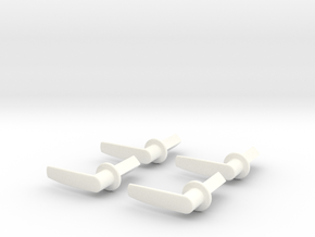 Scale Helicopter Handle L21mm in White Processed Versatile Plastic