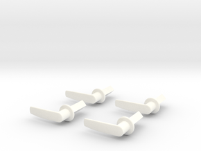 Scale Helicopter Handle L19mm in White Processed Versatile Plastic