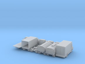 Misc Truck Set - 1:110 Scale in Smooth Fine Detail Plastic