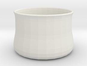 Vase1 in White Natural Versatile Plastic