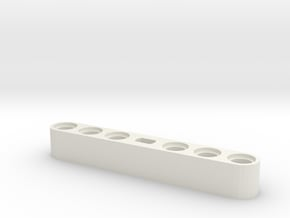 Lego compatible motor adapter in White Natural Versatile Plastic