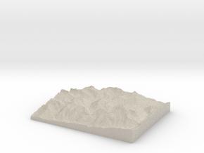 Model of Zug in Natural Sandstone