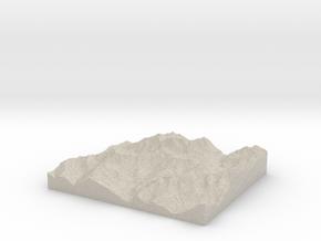 Model of Aosta in Natural Sandstone