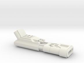 Dual Pulsar Short Version in White Natural Versatile Plastic